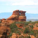 Kissing rock above Sedona