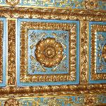 Part of the ornate ceiling in the restaurant