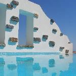 Vue de notre piscine privée