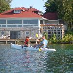 Top Deck Restaurant - View from Kayak on the Lake - Gordon Lodge
