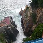 vista del famoso restaurante la perla hotel el mirador  acapulco