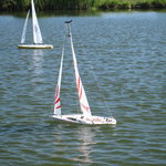 remote control boats on pond