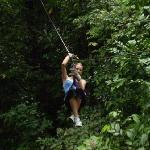 Me ziplining in Colon, panama outdoor adventures