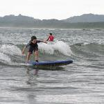 My son's first wave ever - in Tamarindo Beach