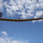 crossing one of the sky bridges