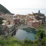 Vernazza from the hiking trail