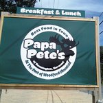 Papa Pete's, NOT Papa Paul's as Tripadvisor lists