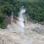 Soufriere Sulphur Springs.  We were in the world's only volcano that you can actually drive thro