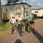 Départ à vélo du mobil-home !