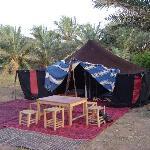 Tenda Berbera montata apposta per noi in un VERO villaggio...( Ciao Youssef!)