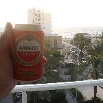 Cold beer at the balcony :)