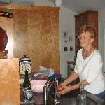 Gerri in her beautiful kitchen
