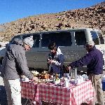 Frühstück einer Excursion