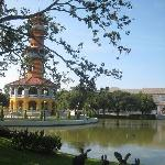 Nice view of the Sages Lookout, Bang Pa In Summer Palace, Ayutthaya..Thailand