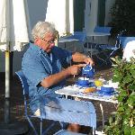 la vie en bleu au petit déjeuner