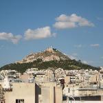 Monte Licabeto desde terraza hotel Attalos