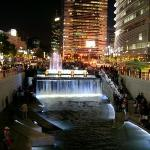 cheonggyecheon district in seoul, korea
