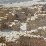 The remains of Qumran where the Dead Sea Scrolls were found.