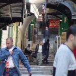Along the Via Dolorosa.