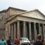 The pantheon. We sat at a little cafe in front of here and drank a couple glasses of wine