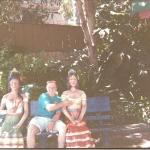 """Another good friend back in the day.  Ethan Smith, along with his two """"girls friends"""" at Knotts"""