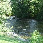 Trout River behind the Inn