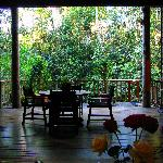 Coolara - view from lounge looking out to deck