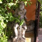One of many statues adorning the garden.