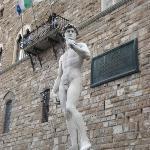 Fake David in Piazza del Signoria.