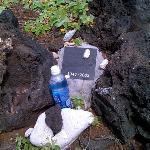 A memorial at Makapuu beach