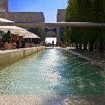 Getty Center fountain.