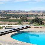 The pool with hilltop view