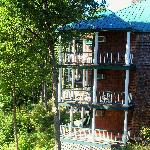 View of Legend Cottages - back porches