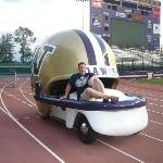 Snuck into Husky Stadium the night before the game