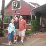 Picture taken for us in front of Cedar Hill B&B