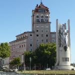Der Aaerio-Platz in der Nähe des Hotels