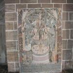 A Adam an Eve mural inside Bremen's church called the Dom.