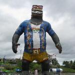 The big Gorilla outside of Motorworld/Ocean Breeze Waterpark.