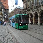 il centro storico, ottimo servizio tranviario.