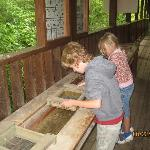 A sluice for kids to play with