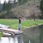 Flyfishing at the pond