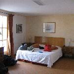 Triple room at Le Sube - the double bed