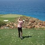 Joost at hole 7 on Pinnacle Point, the best golf course on the Planet!