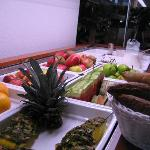 Fresh fruit was part of the superb breakfast buffet.