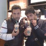 ...frappuccino caramel with whipped cream...!!