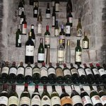 a portion of the wine cellar in Chai 33 restaurant