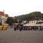 la piazza del mercato di Kazimierz Dolny