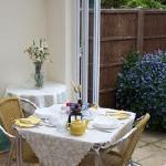 Breakfast room opening onto garden