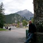 outside the hotel in Banff