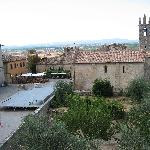 Piazza Roma - taken from the wall rampart at Monteriggioni